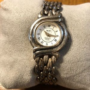 Armitron silver plated bracelet watch